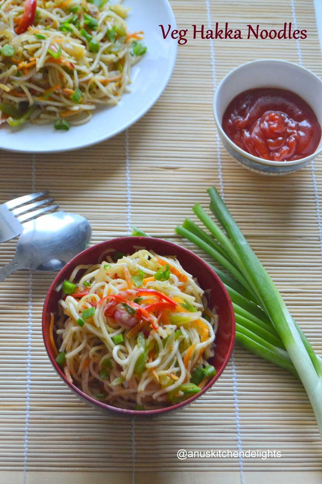 Veg Hakka Noodles / Chinese Veg Hakka Noodles