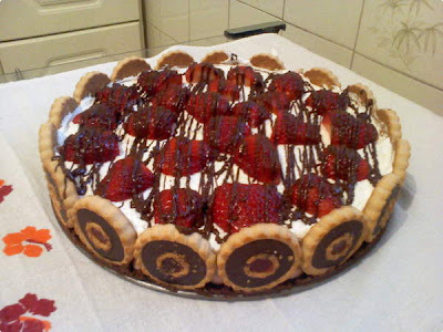 Torta Napolitana de Morango