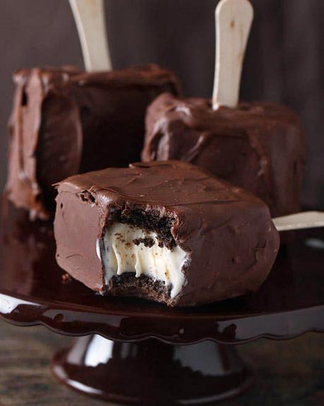 sorvete de brownie no palito