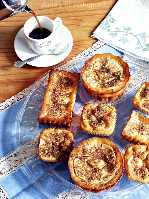 Manzanitos (pasteles de manzana sin base)