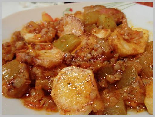 Sült krumplis cukkinis lecsó