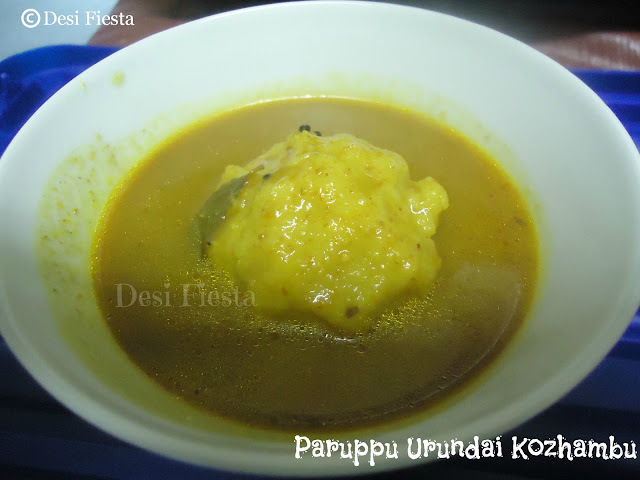 Paruppu urundai kozhambu  (Come on - Lets cook buddies ) Entry 16
