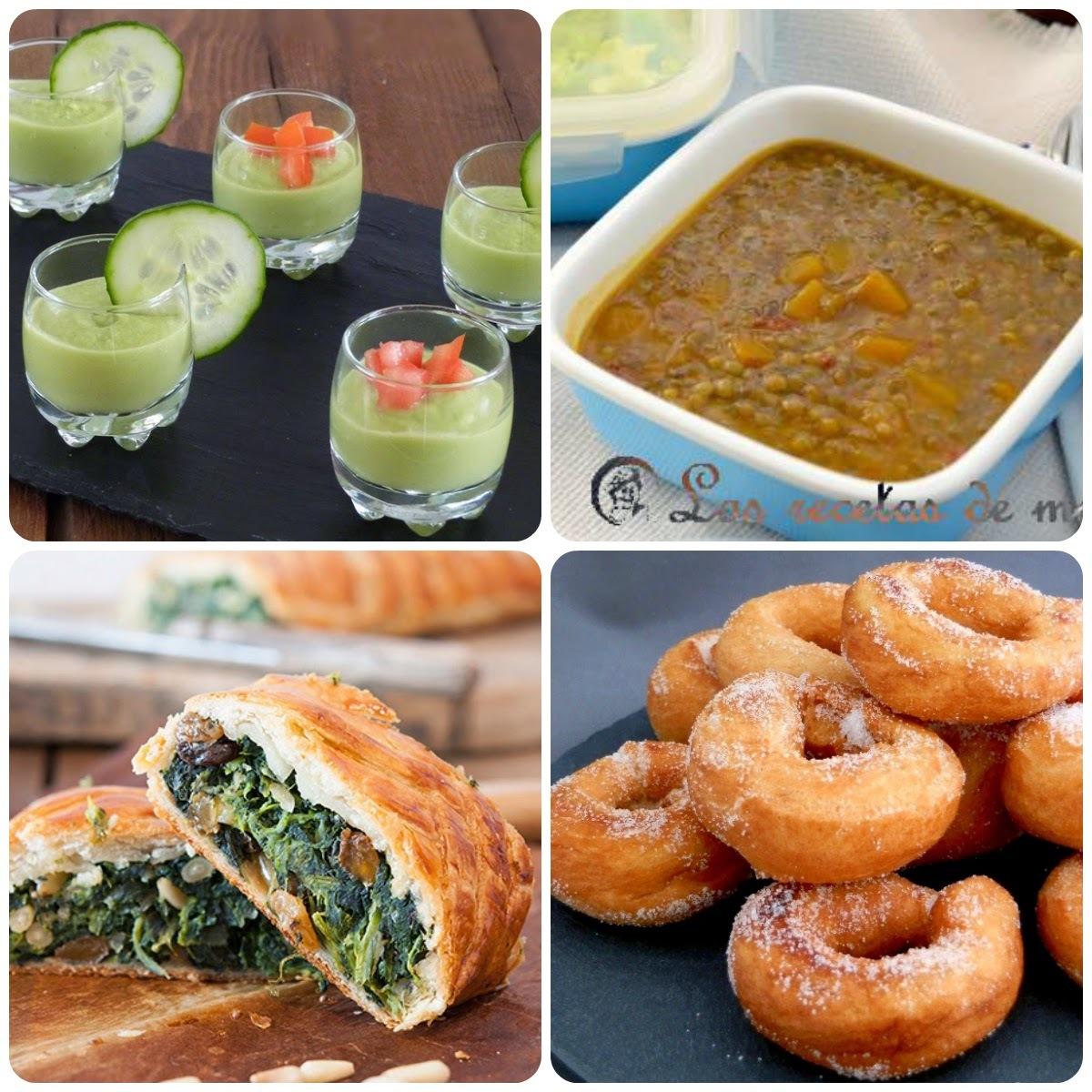 11 Menú vegetariano con recetas de otros blogs