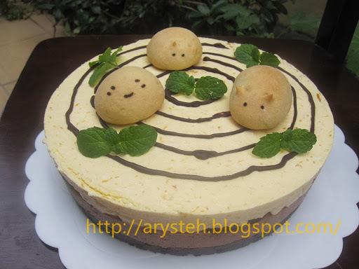 免烤金瓜芝士蛋糕(奶素)