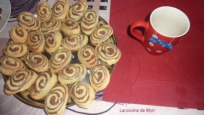 Galletas espiral de chocolate y vainilla