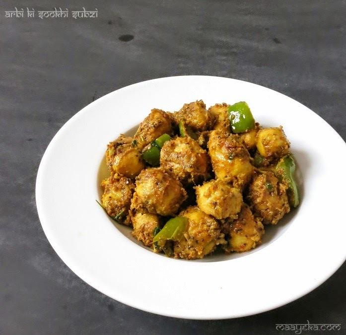 Arbi ki Sookhi Subzi  / Dry Masala Arbi