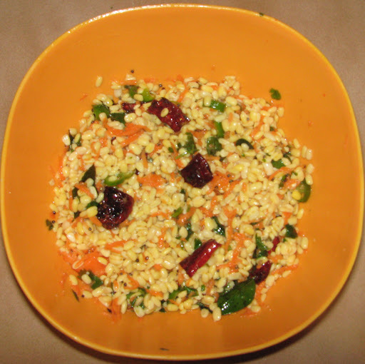 Mooga Dali Kosambari (Moong Dal or Green gram Salad)