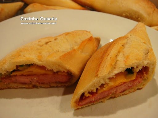 Sanduiche de Linguiça e Palmira