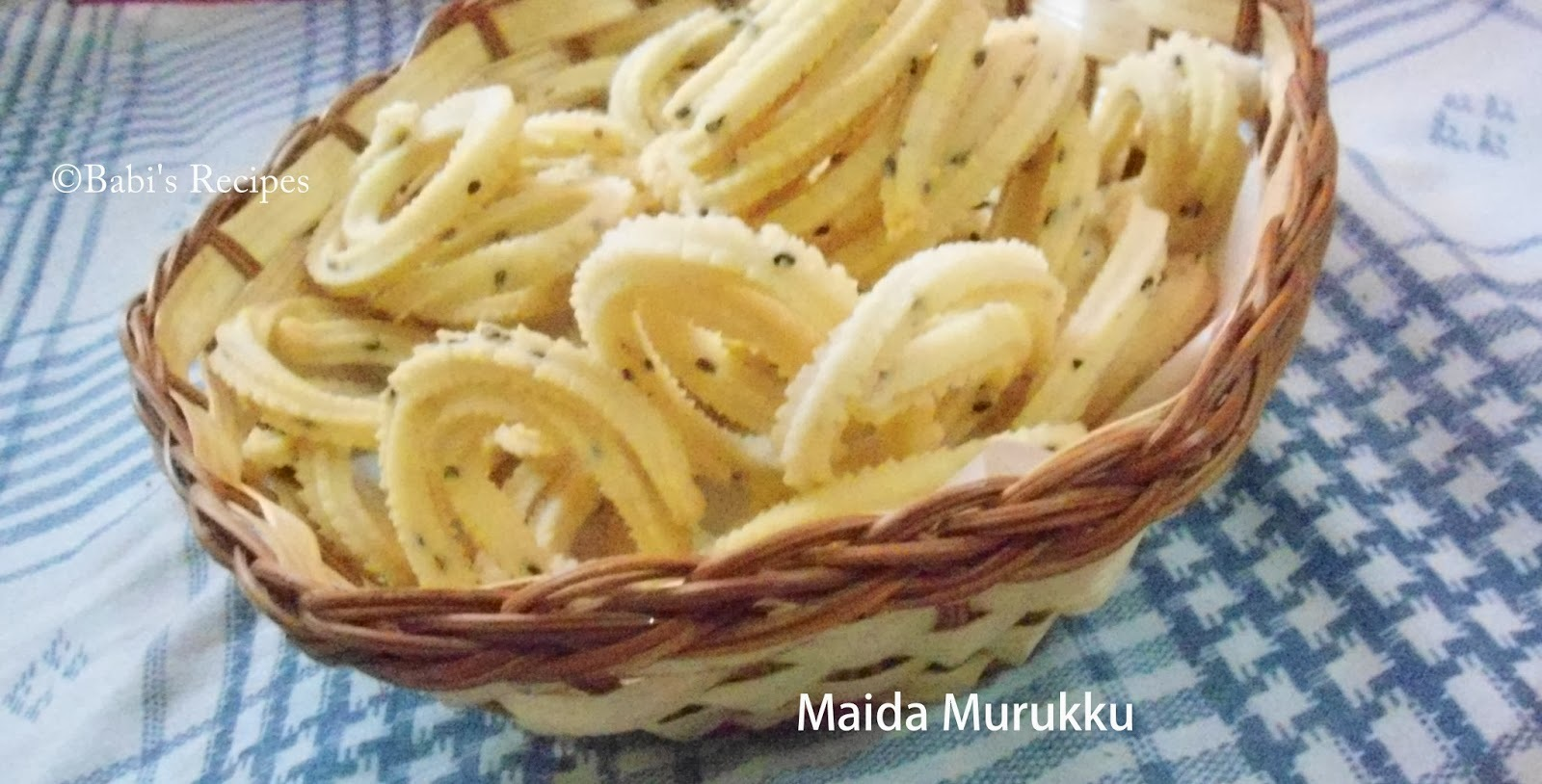maida sweet snacks