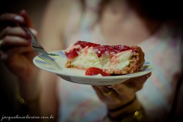 Torta de ricota com morango