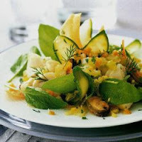 Salada Quente de Frutos do Mar