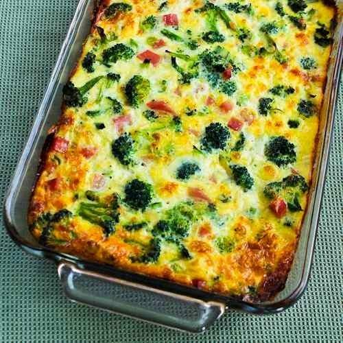 Brócolis, Presunto e Mussarela Cozidos com Ovos