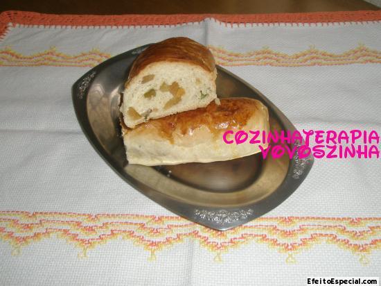 Pão de aveia e frutas cristalizadas