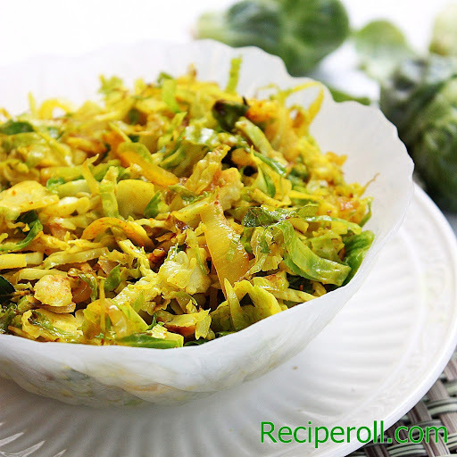 Shaved Brussels Sprouts | Brussels Sprouts Thoran
