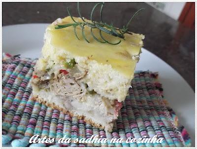 torta de liquidificador com sazon vermelho