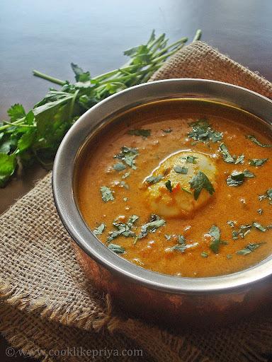 Boiled Egg Kurma Recipe   Restaurant Style Egg Kurma   Egg Side dish for Chappati