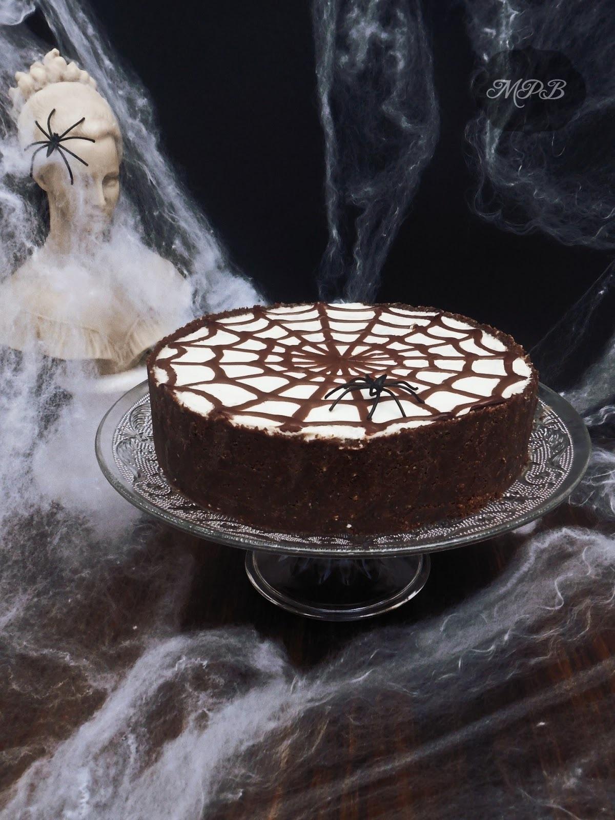 Halloween: Tarta de Queso y Chocolate sin horno