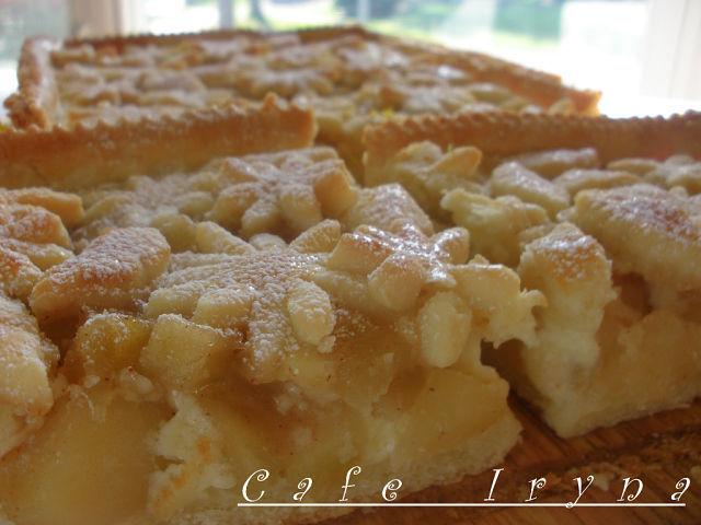 пирог яблочный на сковороде