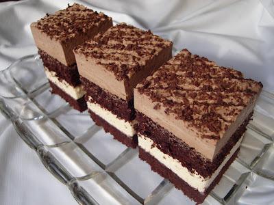 Csokis-vaníliakrémes kockák