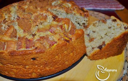 bolo de farinha integral aveia farinha de trigo banana côco