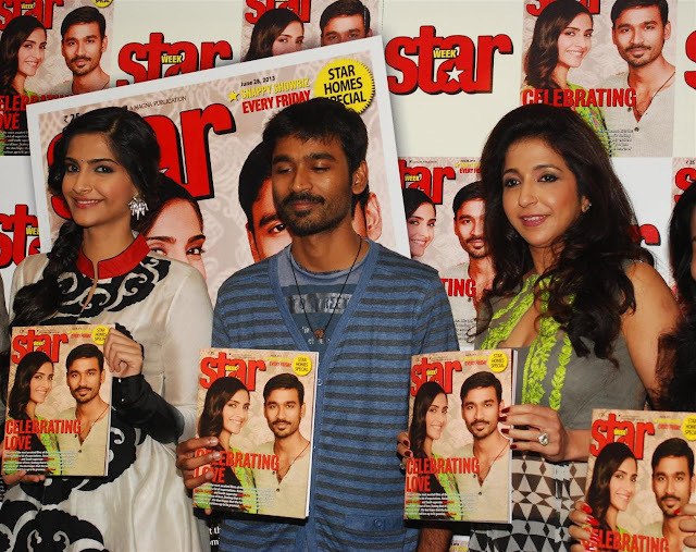 Sonam Kapoor and Dhanush launch STARWEEK Magazine cover page