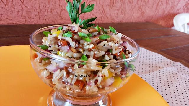 Salada Integral com Pimentões