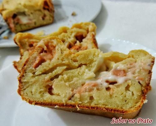 torta de salmão de liquidificador