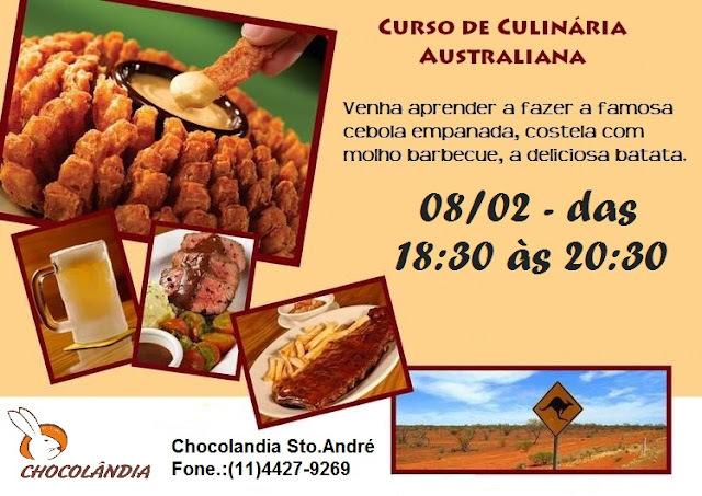 Convite para Curso de Cozinha Australiana by Outback