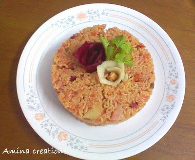 POTATO BEETROOT PULAO