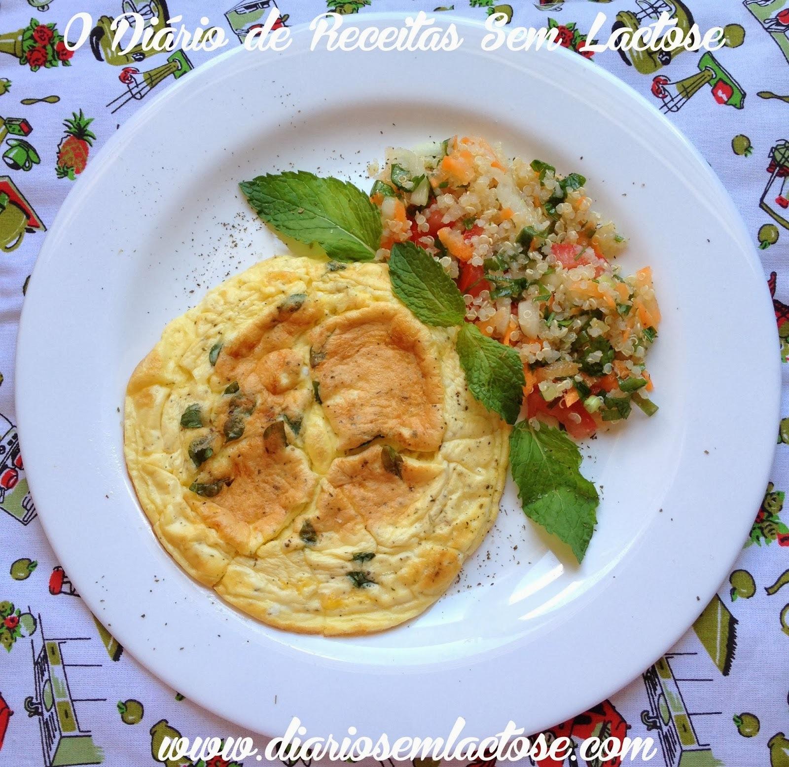 Omelete Pão de Queijo e Salada de Quinoa