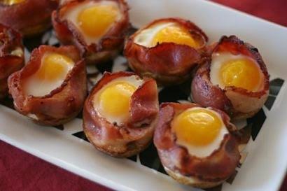 Queso, bacon y huevo