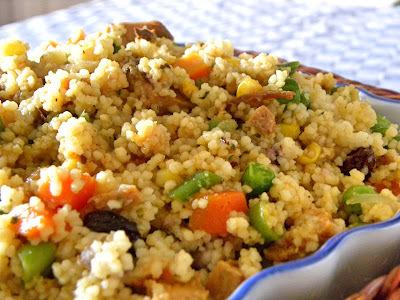 Cuscuz Marroquino com Vegetais e Frango