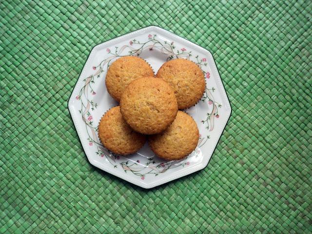 Magdalenas de naranja integrales y sin azúcar