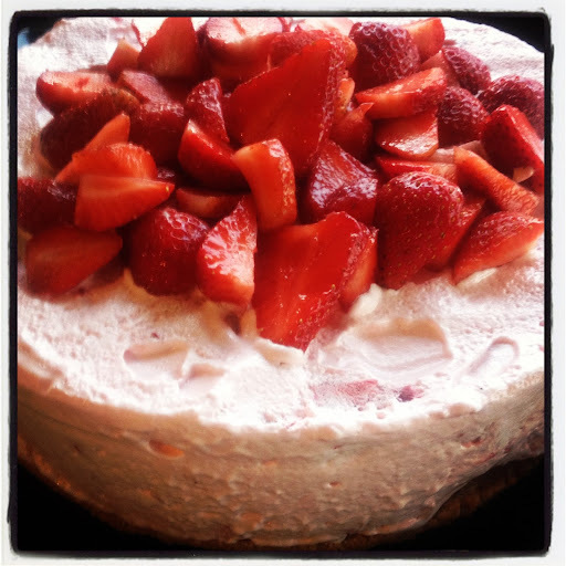 Fluffin' around strawberry cake.