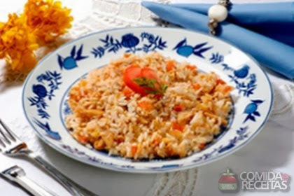 arroz refogado com sazon