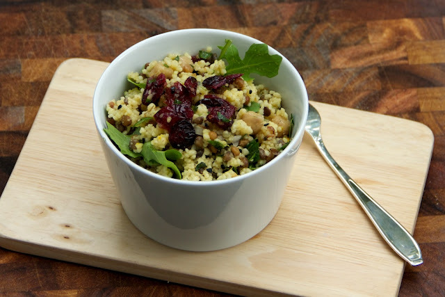 Saffron Couscous, Chickpea and Lentil Salad