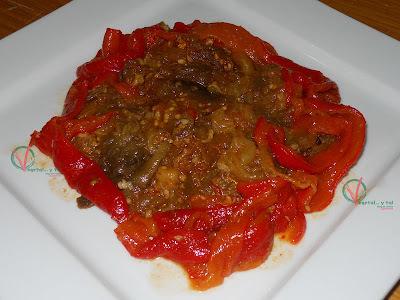Ensalada marroquí de berenjena y pimiento