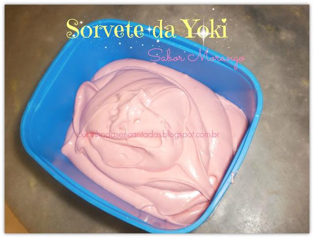 Vamos fazer um sorvete de Morango??