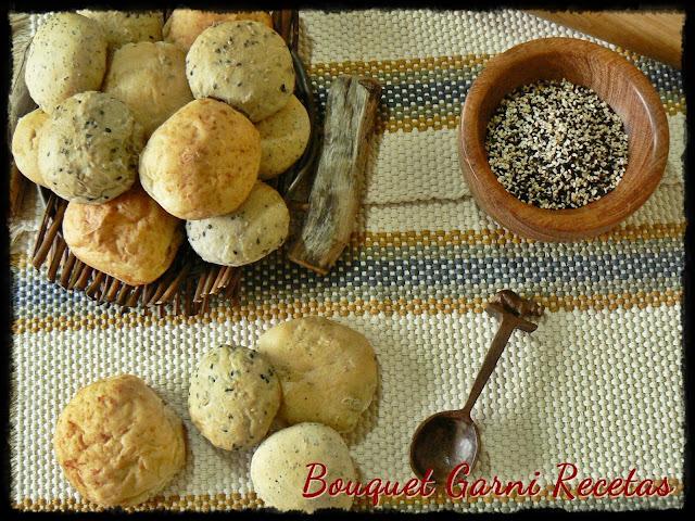 Pancitos saborizados (sésamo, queso, cebolla y amapola)