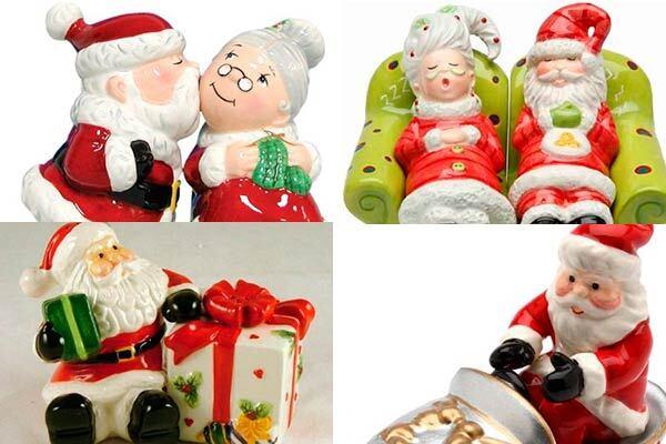 Papai Noel na cozinha e na mesa