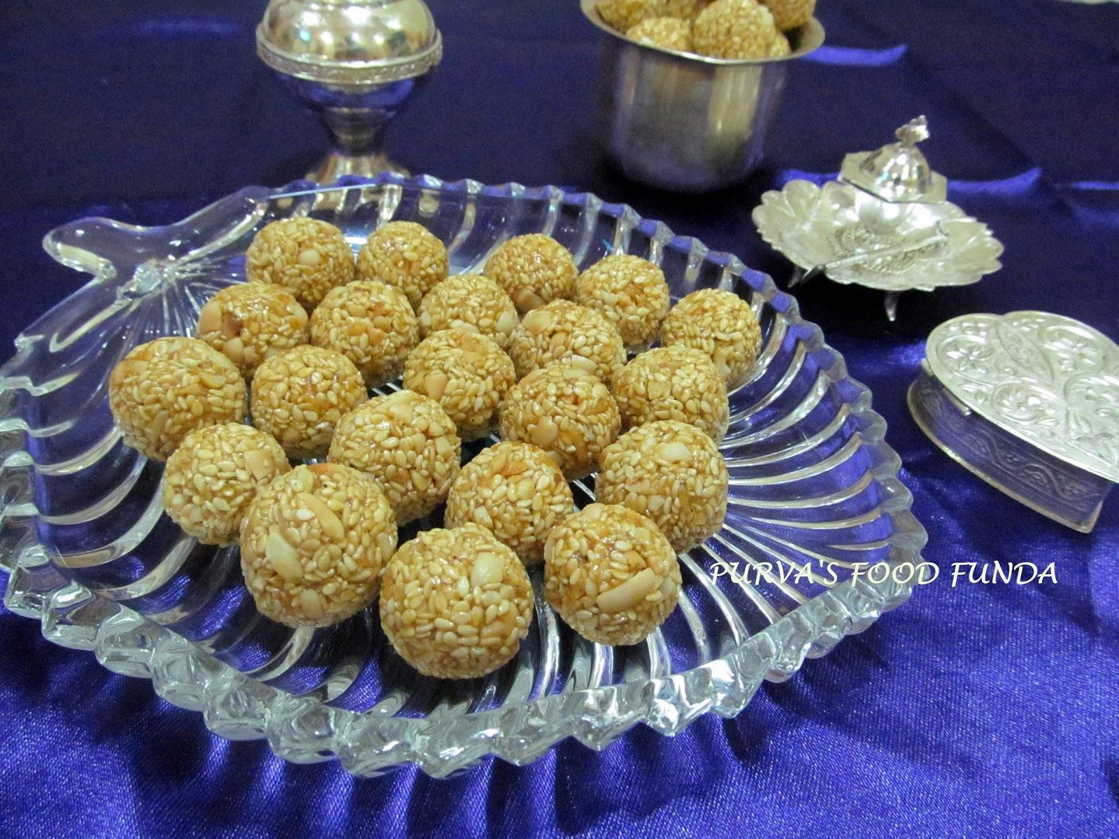 Tilgul Ladu (Sweet & Crispy Sesame Balls)