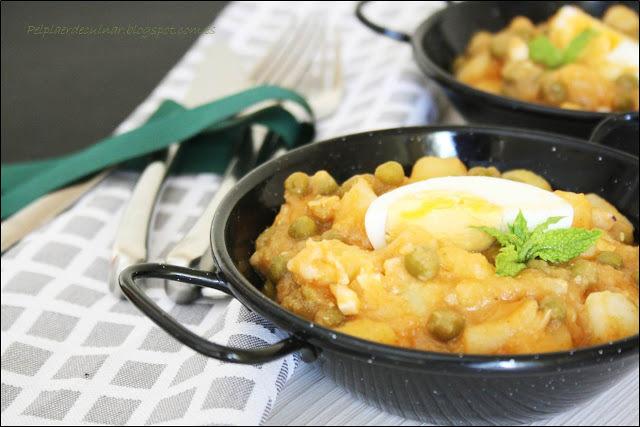 Cassola de sípia amb patates