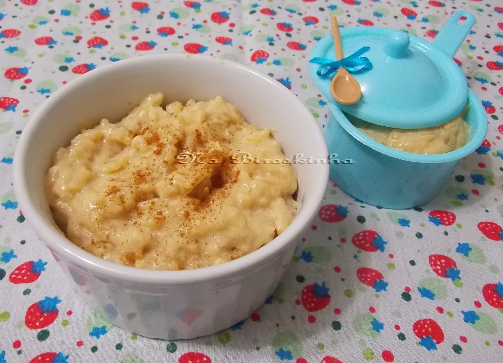 arroz doce com leite em pã³ e leite condensado