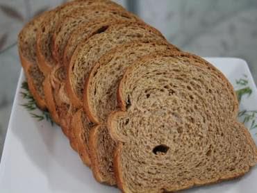 de pão de forma integral caseiro