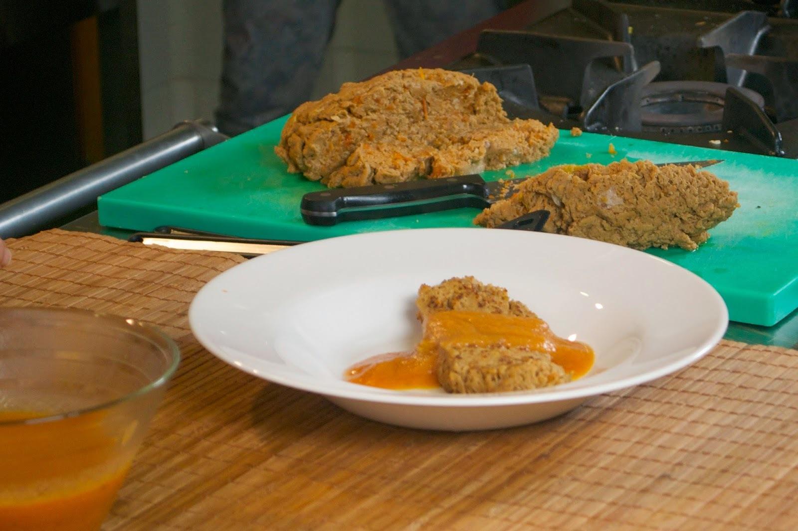 Seitán con tomate seco. Carlos, de Vegetal... y tal en Cocina con Baró