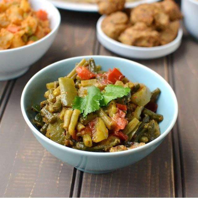 Rajasthani Curry Recipes (Panchmel Subzi, Subz Jaipuri & Dhana Wadi Subzi)