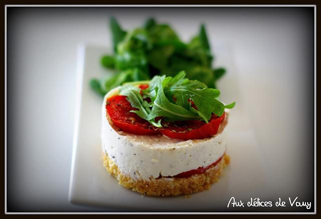 Mini Cheesecake au chèvre frais et à la tomate
