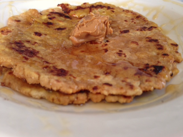 Roti/Flatbread  with Almond Butter and Honey