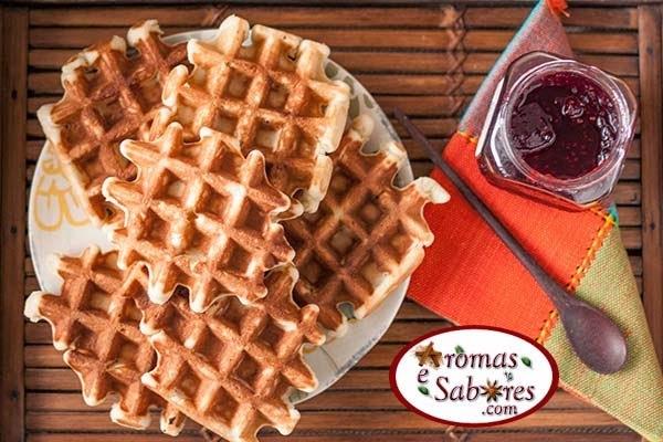 Receita de waffles de Liege - waffles de açúcar