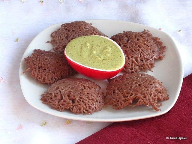 Ragi Idiyappam ~ Finger Millet String Hoppers
